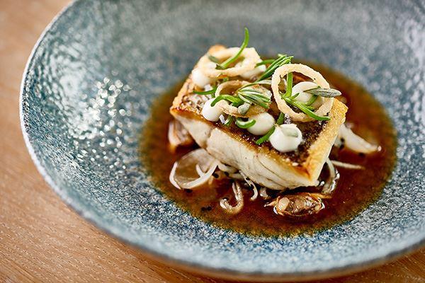 Fish dish at The Idle Rocks Hotel, St Mawes