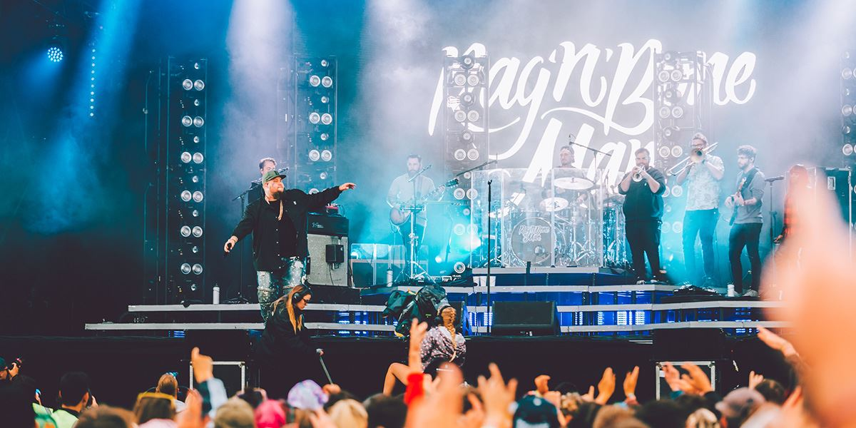 Rag 'n' Bone Man performing at Boardmasters Festival