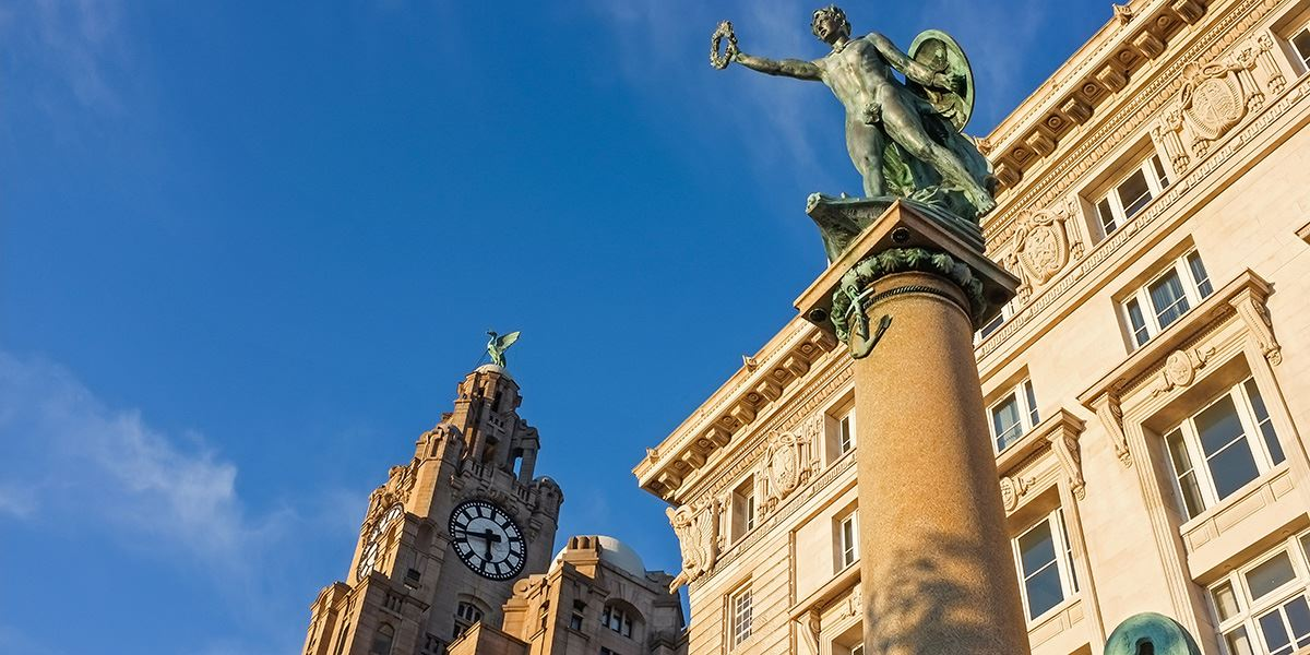 The Three Graces consist of the Royal Liver Building, The Cunard Building and the Port of Liverpool Building