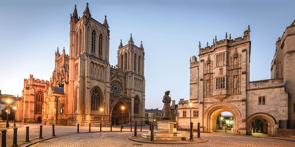 Explore the medieval architecture of Bristol Cathedral