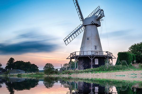 There are a number of windmills in Kent, showing the county's rich agricultural heritage