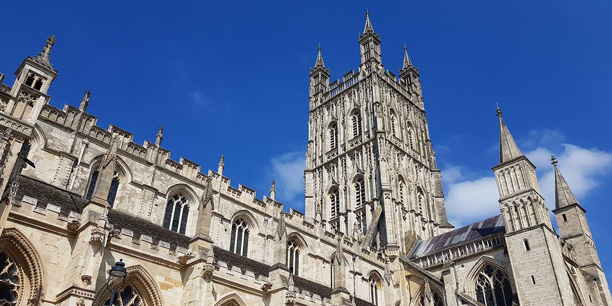 Take in the magnificent architecture of Gloucester Cathedral