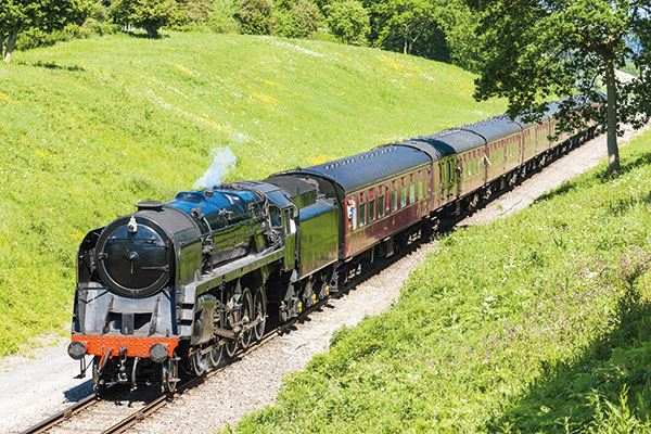 Take a scenic ride on the Gloucestershire Warwickshire Steam Railway