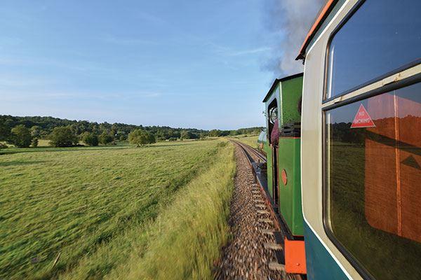 Enjoy a ride on a steam train along the Spa Valley Railway