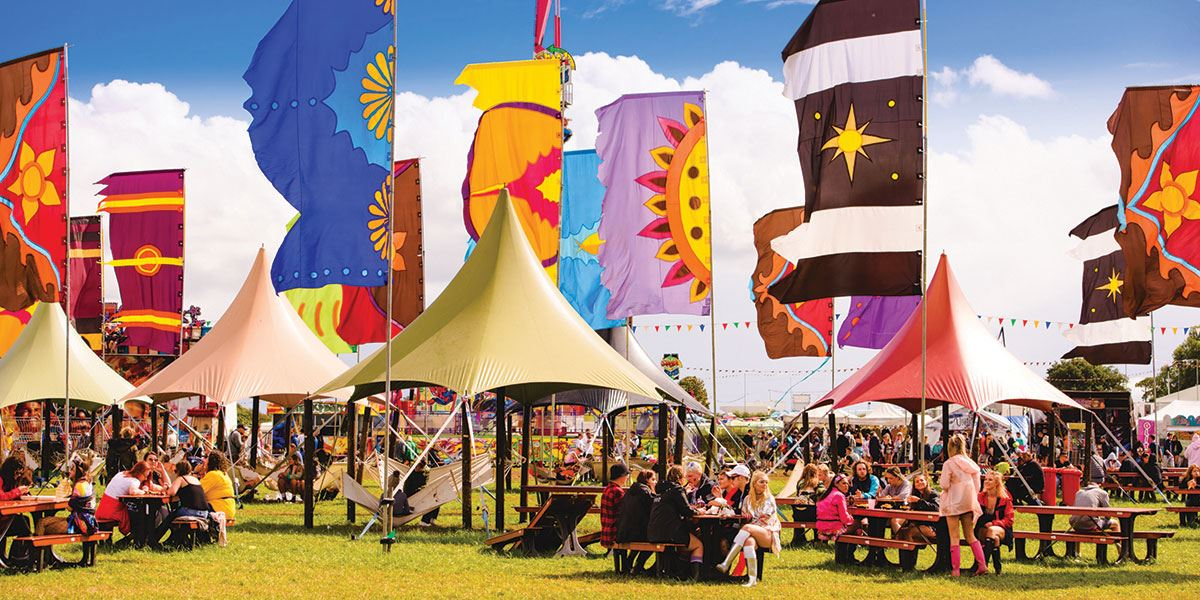 Creamfields is one of the many festivals held in Cheshire every year