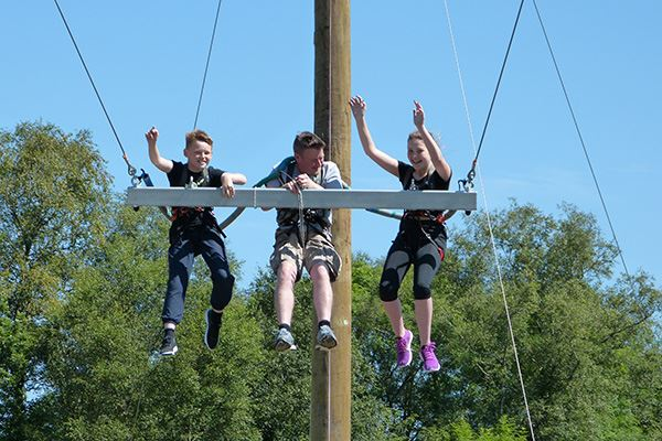 Dare you ride the swing at Galloway Activity Centre?