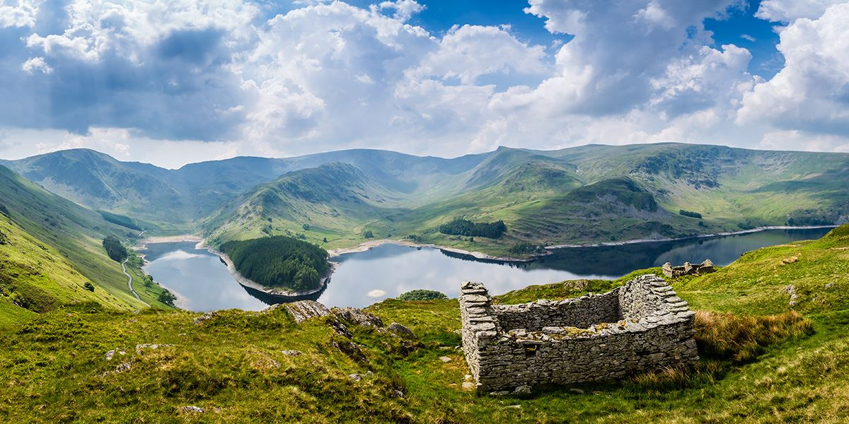 This region's dramatic landscapes have formed over millions of years – pictured is Haweswater Reservoir