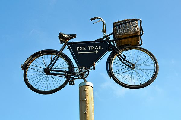 The Exe Cycle Route is flat and easy