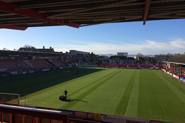 St James Park, home to Exeter City FC