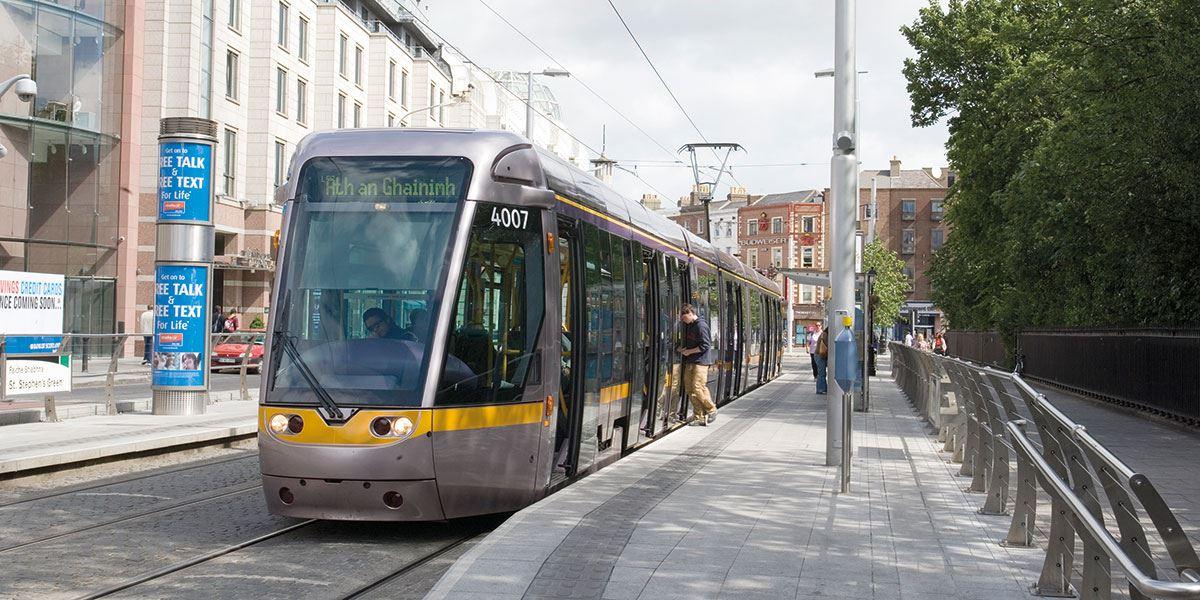 Luas is a tram/light rail system in Dublin