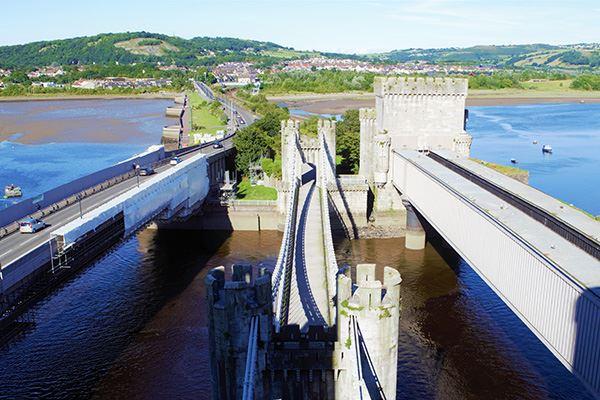 Thomas Telford's suspension bridge was built in 1826