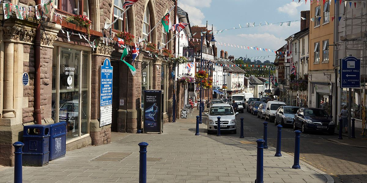 You can access Abergavenny's market from Cross Street