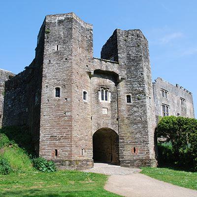The romantic ruin of Berry Pomeroy Castle