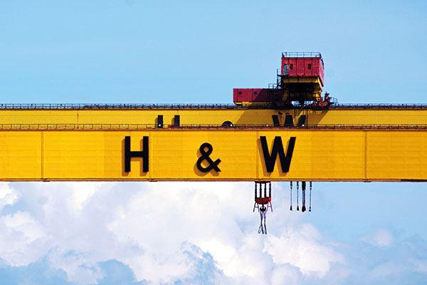 Belfast's famous Harland & Wolff's docks