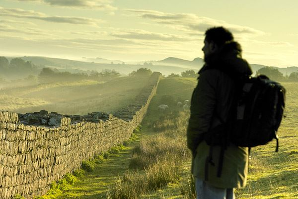 Hadrian's Wall spans Northumberland from east to west