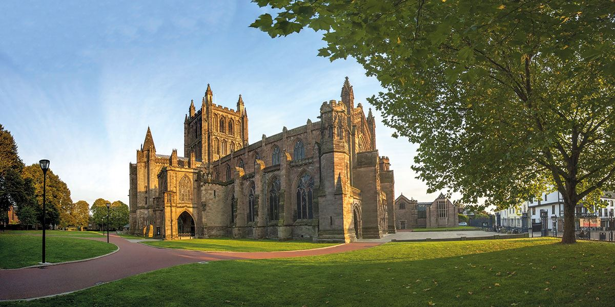 Herefordshire is rich in history, and this is clear to see in the architecture of its buildings such as Hereford Cathedral