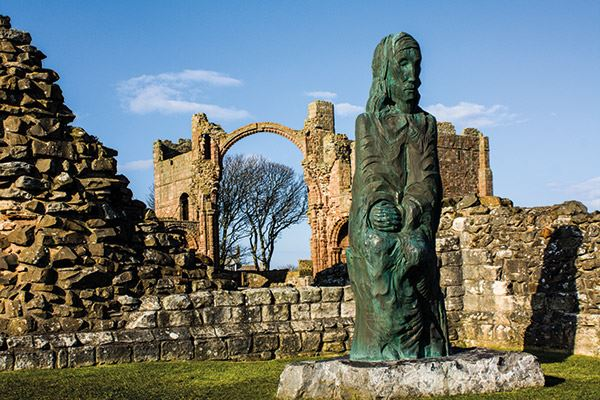 St Cuthbert Statue, Lindisfarne