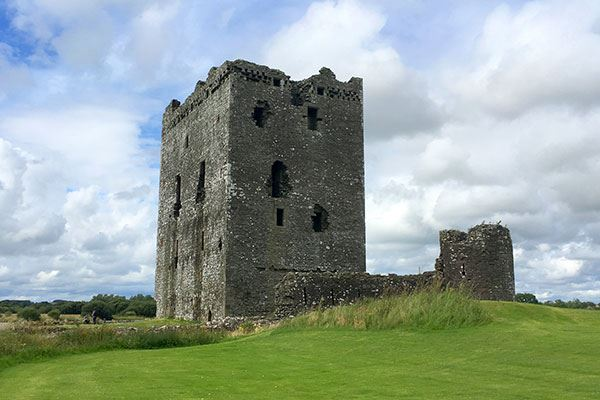 Threave Castle is set on on an island in the River Dee