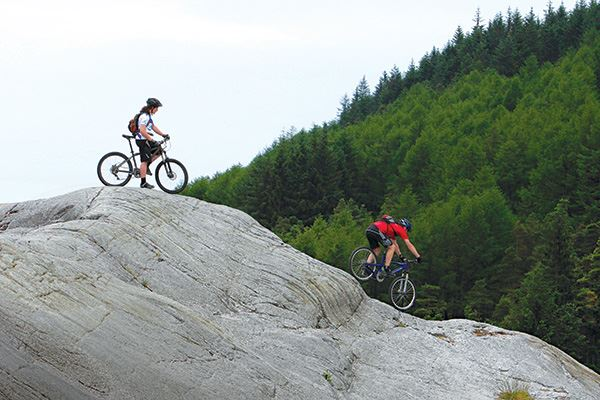 Mountain biking in Kirroughtree Forest