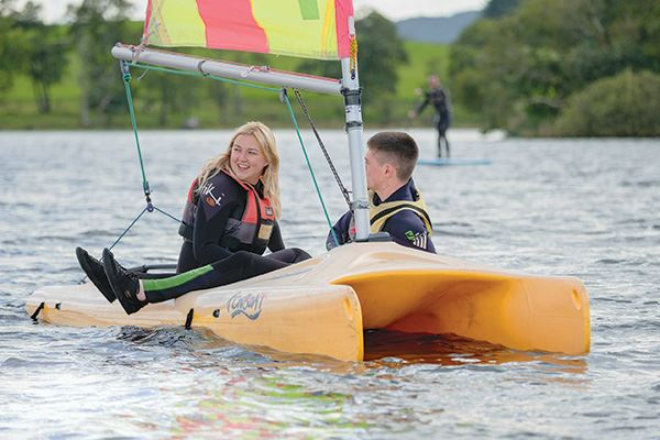 Sailing on Loch Ken at the Galloway Activity Centre