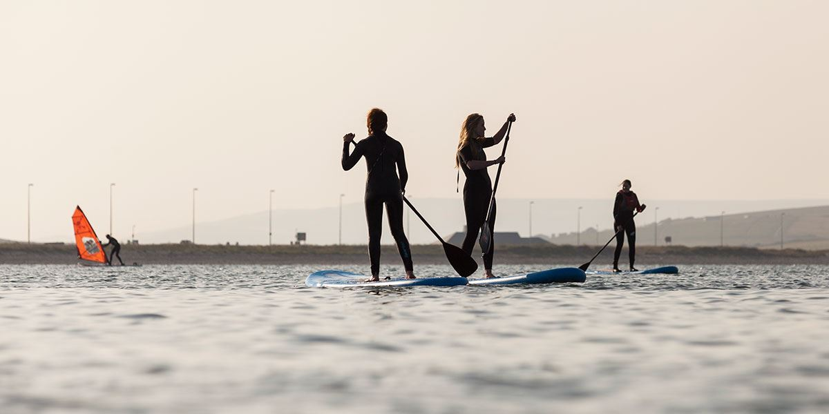 There's plenty of opportunities to try stand-up paddle boarding in the region