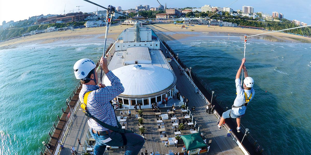 The PierZip is the world's first pier to shore zip wire, boasting a 250-metre dual zip wire