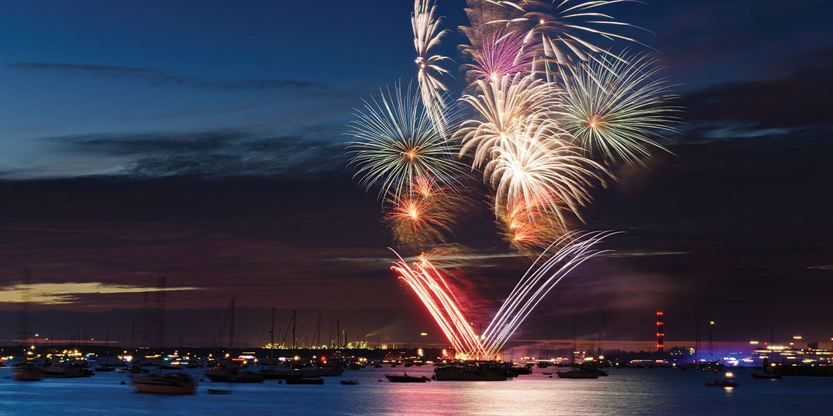 Watch the spectacular Cowes Week fireworks