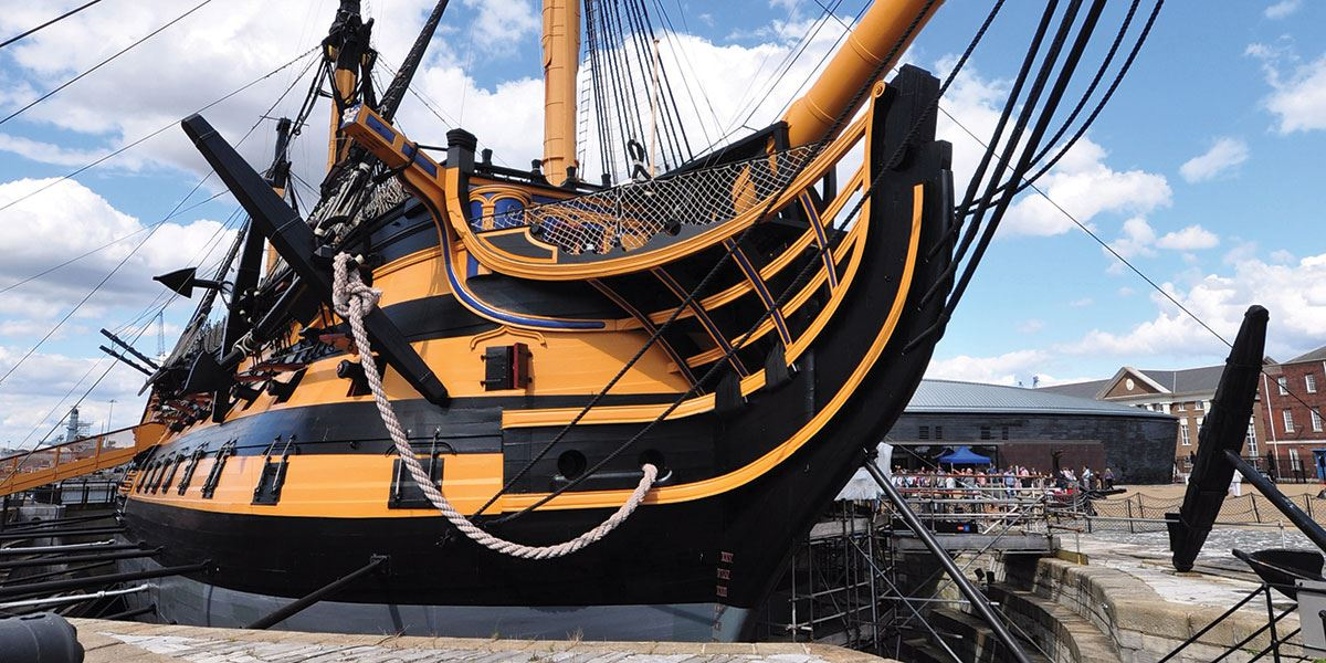 Step back in time with a visit to the HMS Victory in Portsmouth's Historic Dockyard