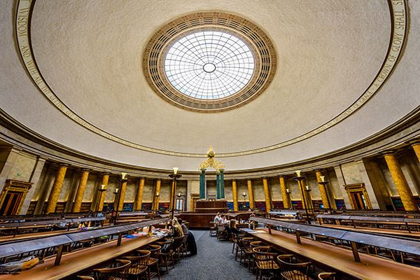 Central Library sits on the site of the Peterloo Massacre of 1819