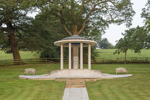 Runnymede is the riverside site of the sealing of Magna Carta