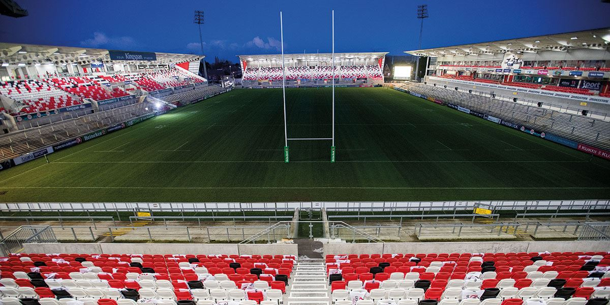 Kingspan Stadium is home to the Ulster Rugby tea