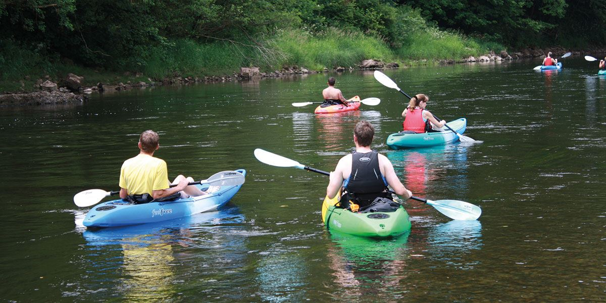 Herefordshire is a haven for canoeists