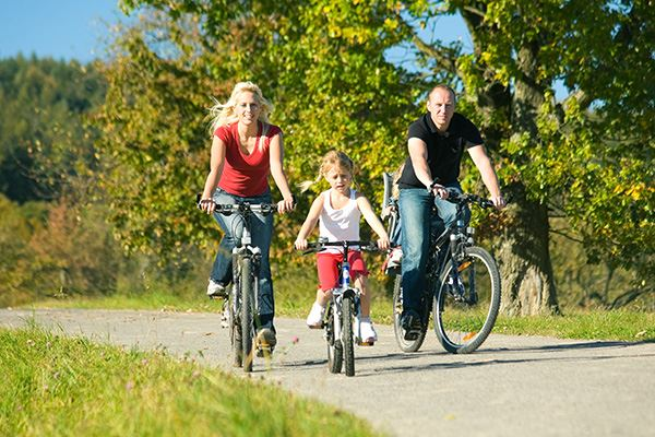 Surrey is great for family bike rides