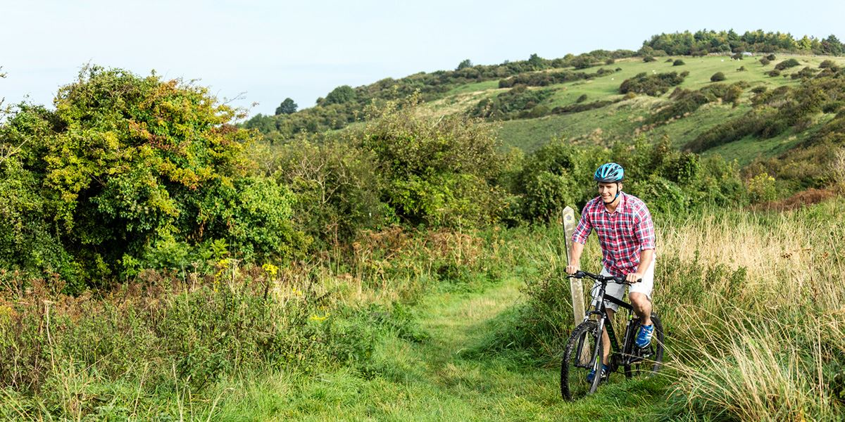 Cycling is great way to explore the South Downs