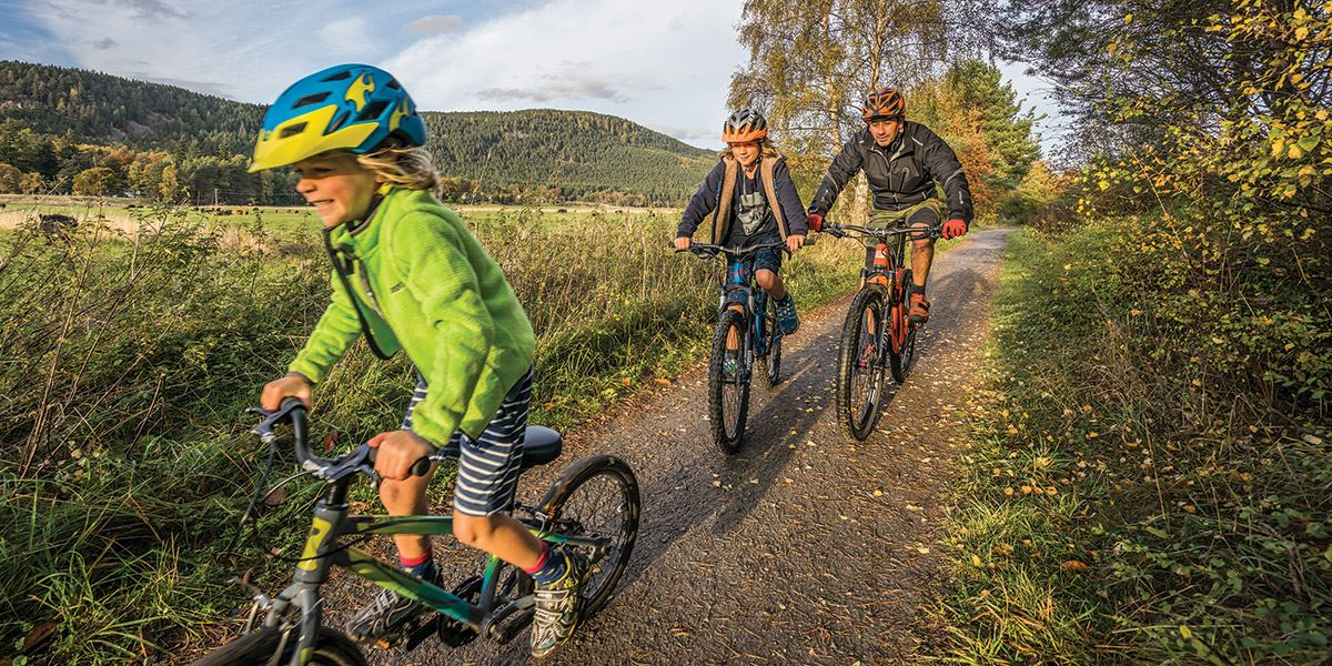 The Deeside country paths in the Cairngorms National Park are a great place to go cycling