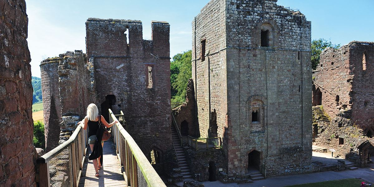 Goodrich Castle is one of best preserved English medieval castles