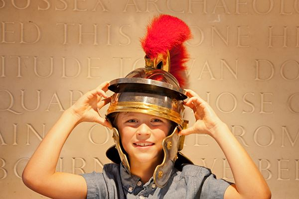 Dress up like a Roman centurion at Fishbourne Roman Palace
