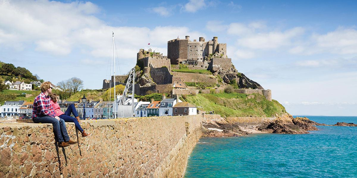 Mont Orgueil Castle has cast its imposing shadow over the beautiful fishing port of Gorey for more than 800 years