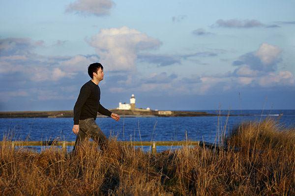 Take a walk along Amble's seafront
