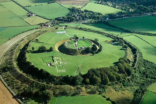 Old Sarum, an Iron Age hill fort