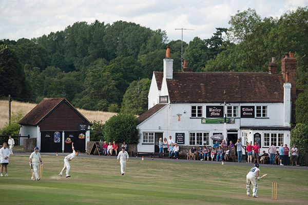 Catch a cricket match (and a pint!) at Tilford Cricket Club in Tilford, near Farnham