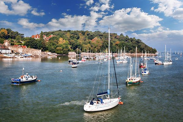 Boats in Conwy Bay