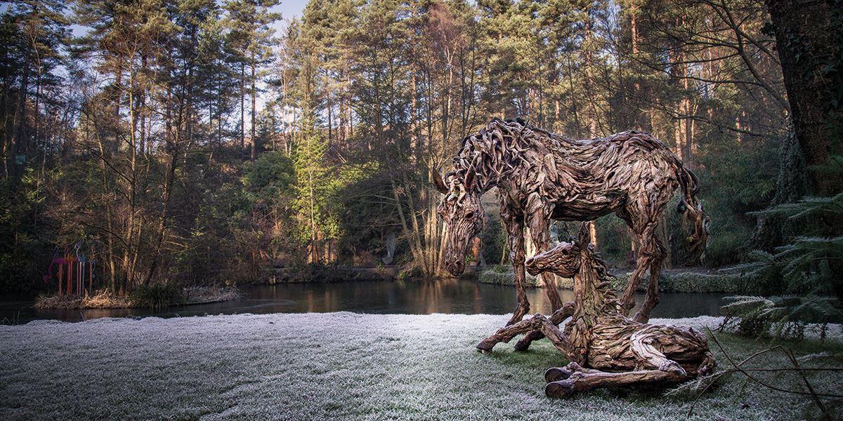 Horses by James Doran-Webb at The Sculpture Park