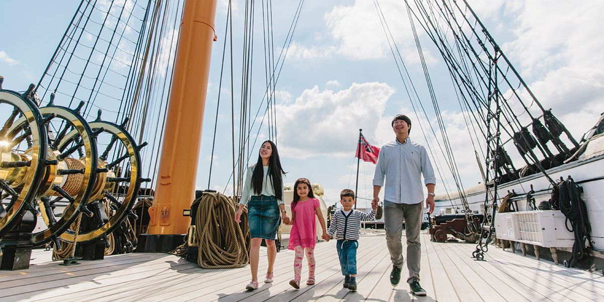 Enjoy a family day out at Portsmouth Historic Dockyard