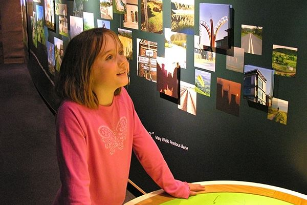 Interactive exhibit at Shropshire Hills Discovery Centre