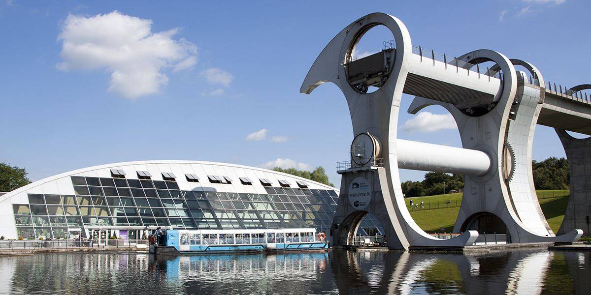The Falkirk Wheel is a must-visit attraction while in the area