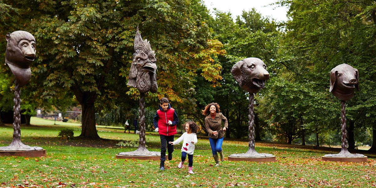 Ai Weiwei: Circle of Animals/Zodiac Heads at Yorkshire Sculpture Park, Wakefield