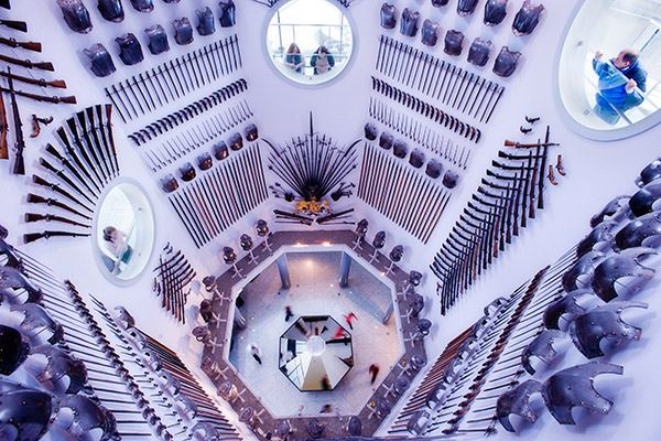 The Hall of Steel at the Royal Armouries
