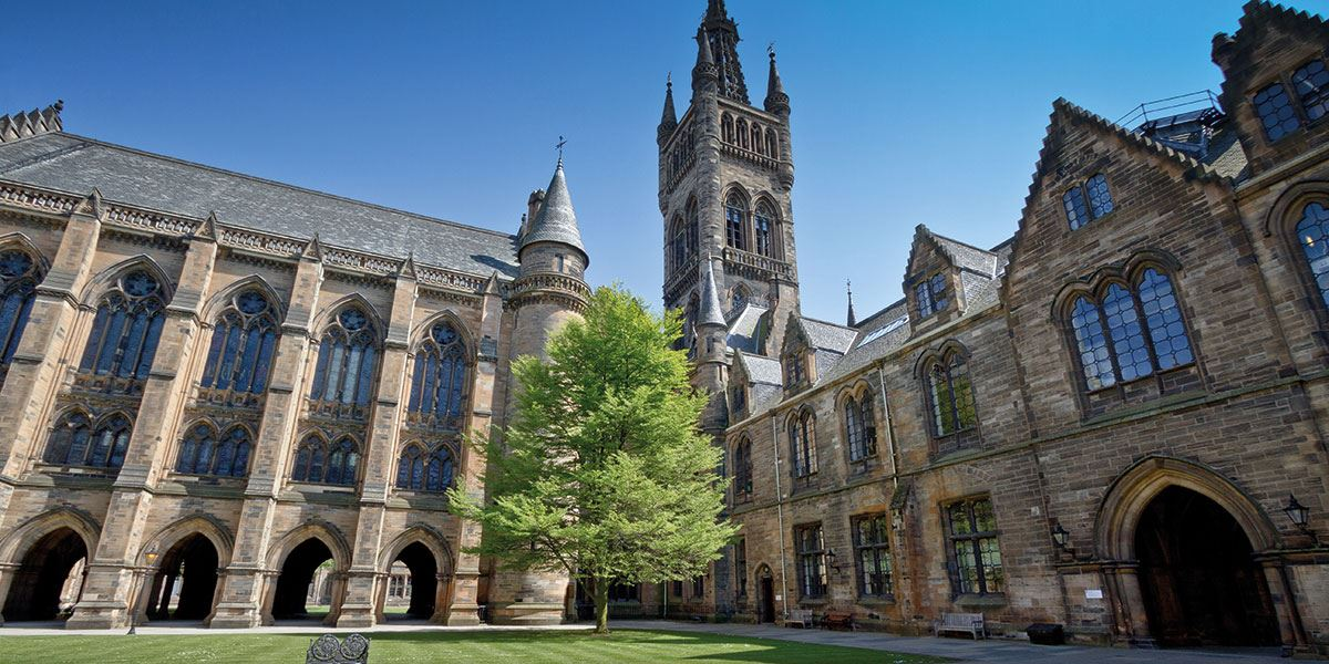 The University of Glasgow has welcomed famous names throughout history
