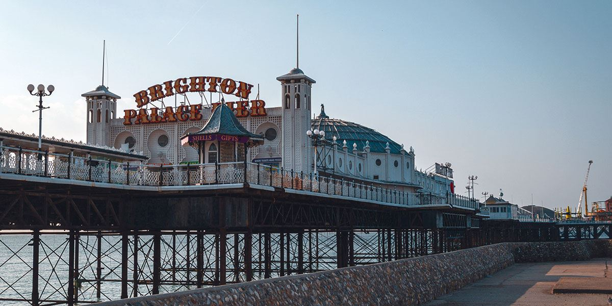 Major Brighton landmarks were built during Queen Victoria's reign, including the Palace Pier in 1899
